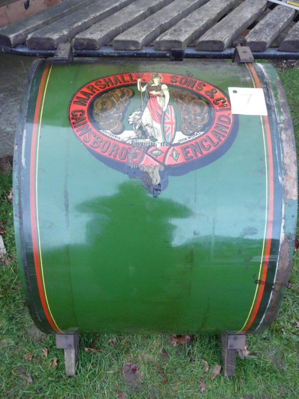 Victoria tin sheet panel with the Marshall transfer