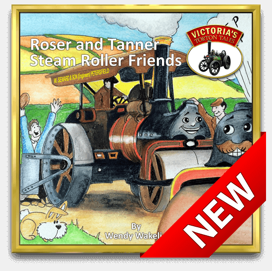 Cover of Roser and Tanner Steam Roller Friends from Victoria's Torton Tales childre's storybooks