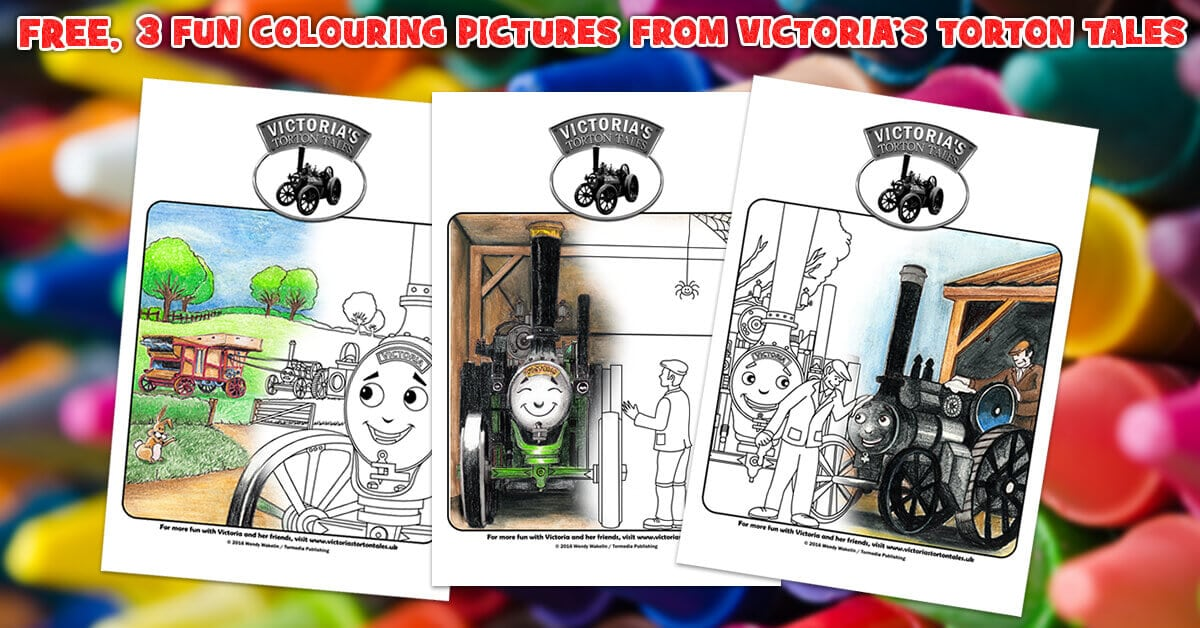 3 Fun Colouring Pictures from Victorias Torton Tales Crayons