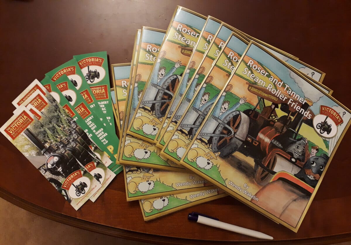 Roser and Tanner Steam Roller Friends books ready to be sent 1200
