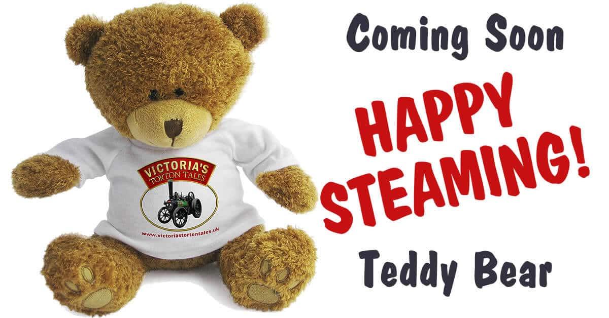 Coming Soon Happy Steaming Teddy Bear