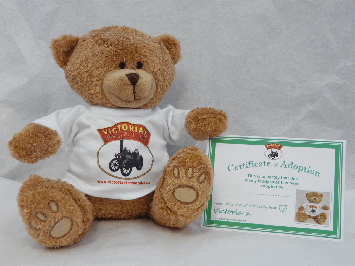 Victorias Torton Tales Brown Bear with Adoption Certificate