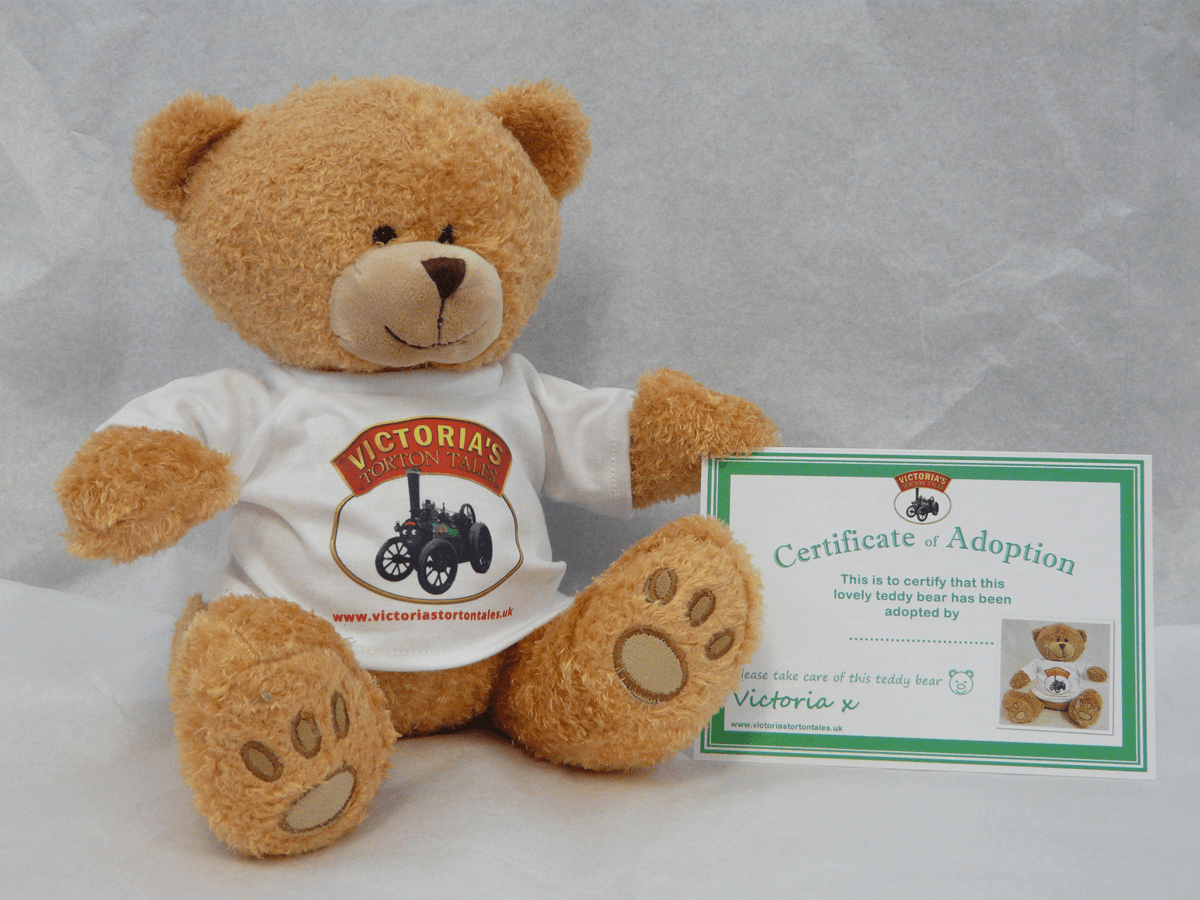 Victorias Torton Tales Golden Bear with Adoption Certificate