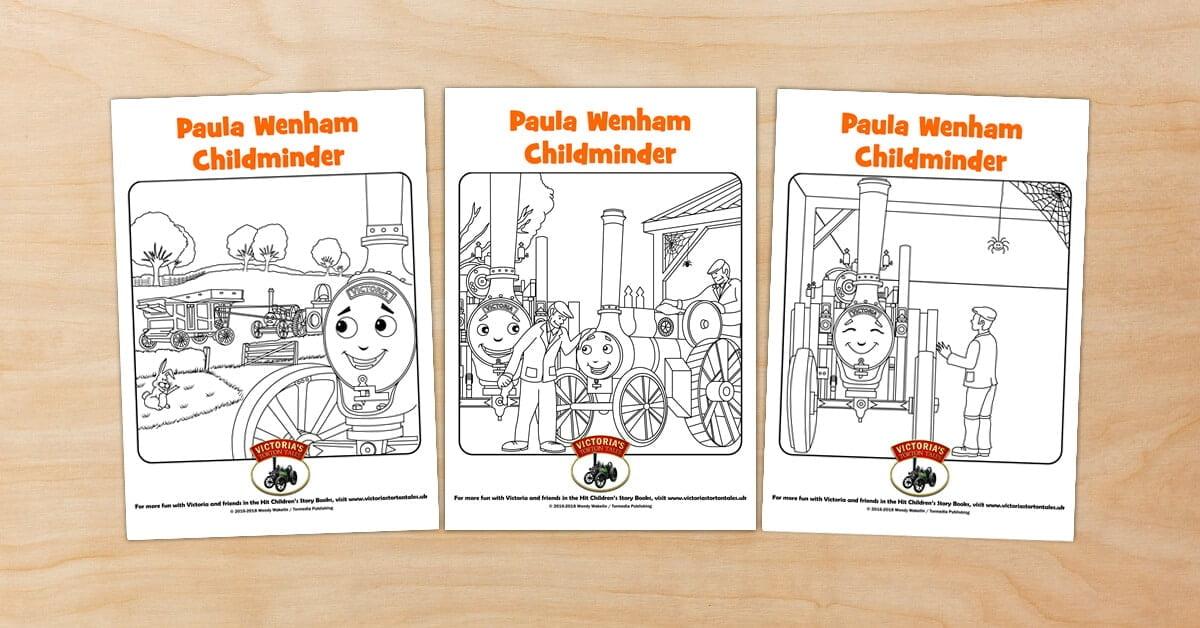 Paula Wenham Childminder Colouring Pictures