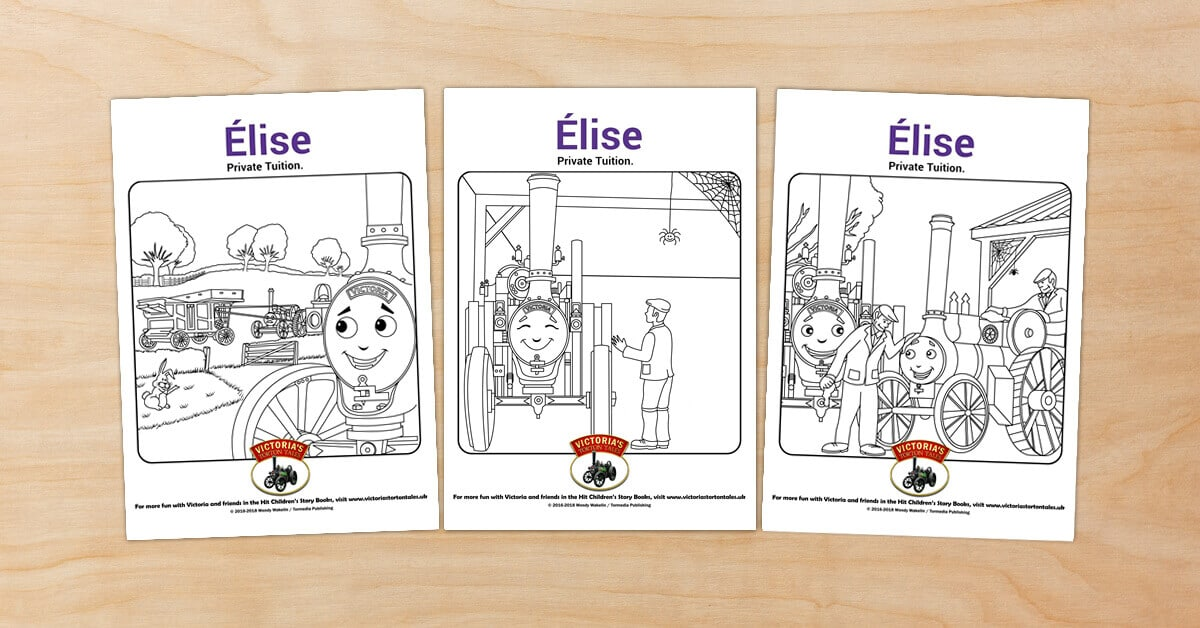Free Victorias Torton Tales colouring pictures for Elise