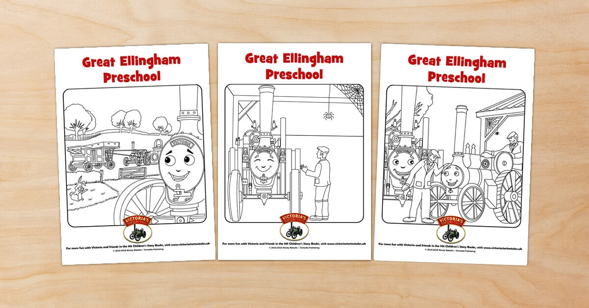 Free Victorias Torton Tales colouring pictures for Great Ellingham Preschool