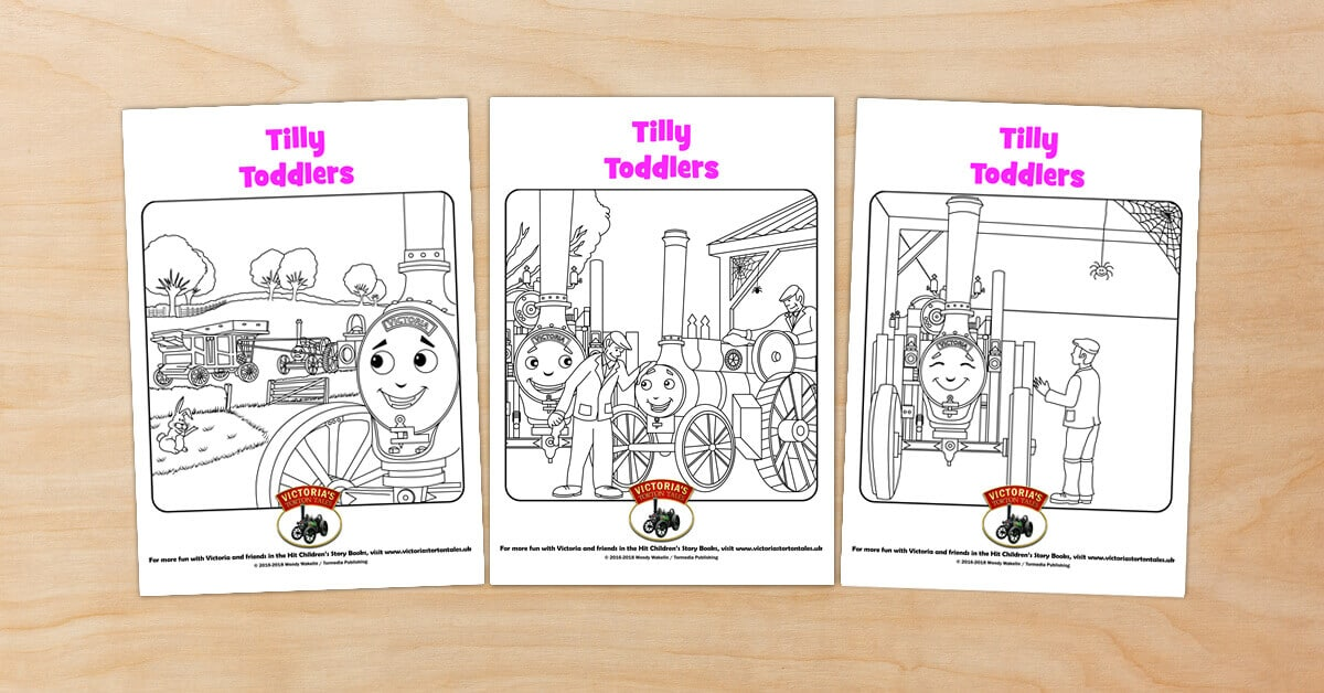 Tilly Toddlers 3 Fun Colouring Pictures from Victorias Torton Tales
