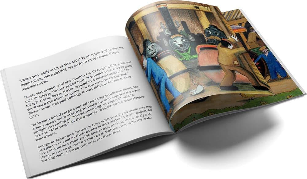 Sneak peek inside Roser and Tanner Steam Roller Friends medium