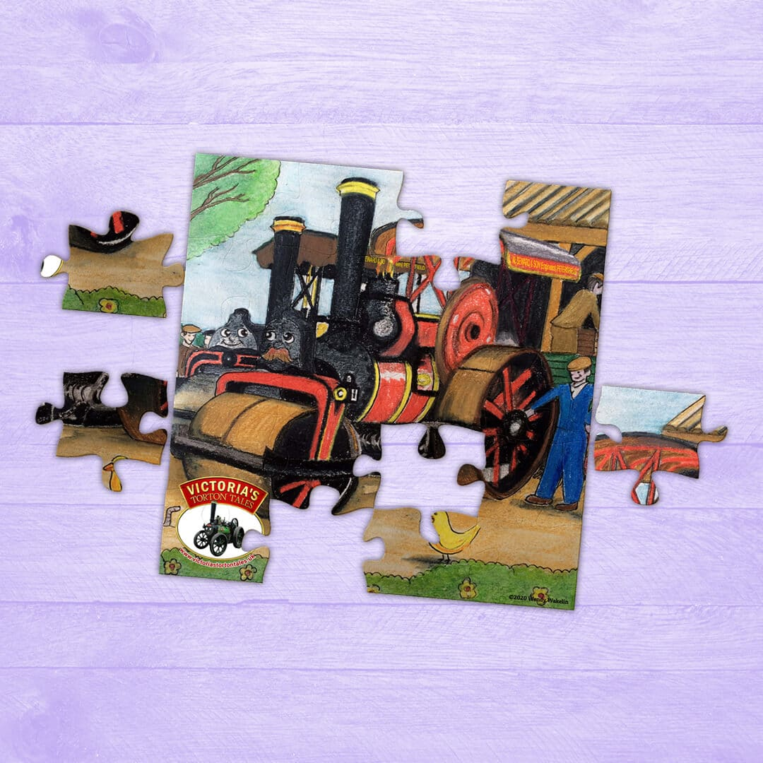 Jigsaw Puzzle – Roser and Tanner the Steam Rollers Getting Ready for Work