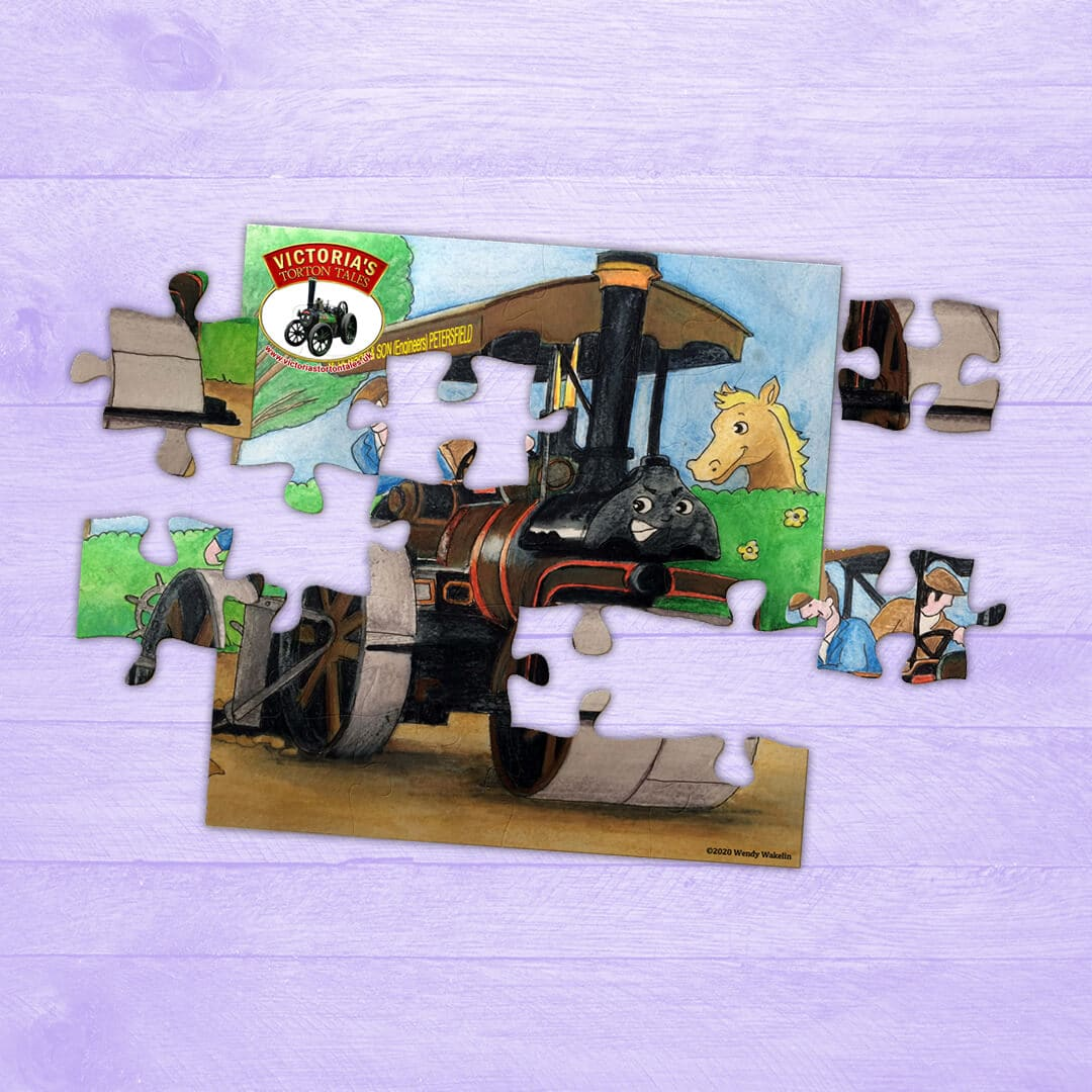 Jigsaw Puzzle – Tanner the Steam Roller and the Scarifier