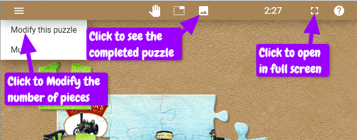 Jigsaw Puzzle Controls