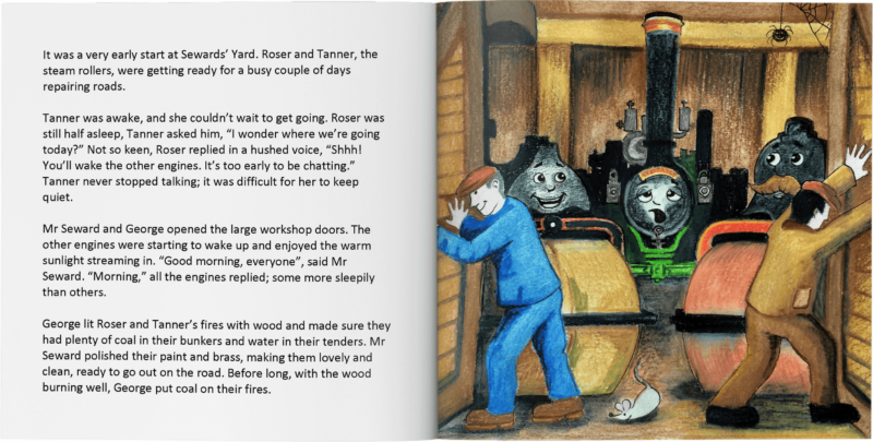 Roser and Tanner Steam Roller Friends Pages 2 and 3
