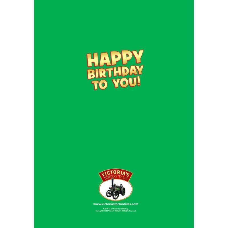 Happy Birthday Card - Back