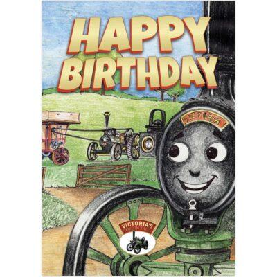 Happy Birthday - Victoria, Albert and the Threshing Machine Greetings Card