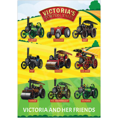 A3 Victoria and Her Friends in The Fields Poster - Product Photo